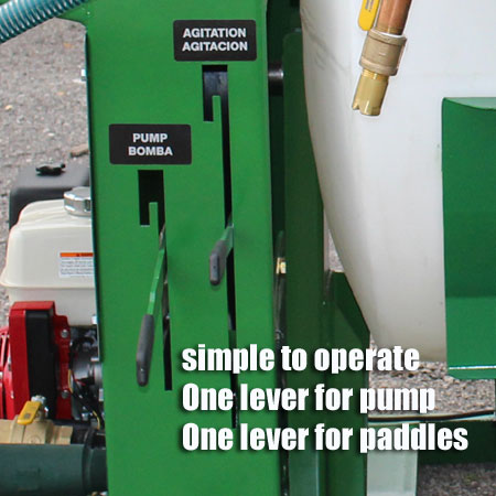 The T series is easy to operate with one control for pump and one for the paddles