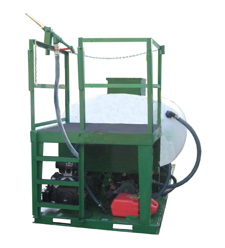 Turbo Turf HM-1000-T hydroseeder, front view