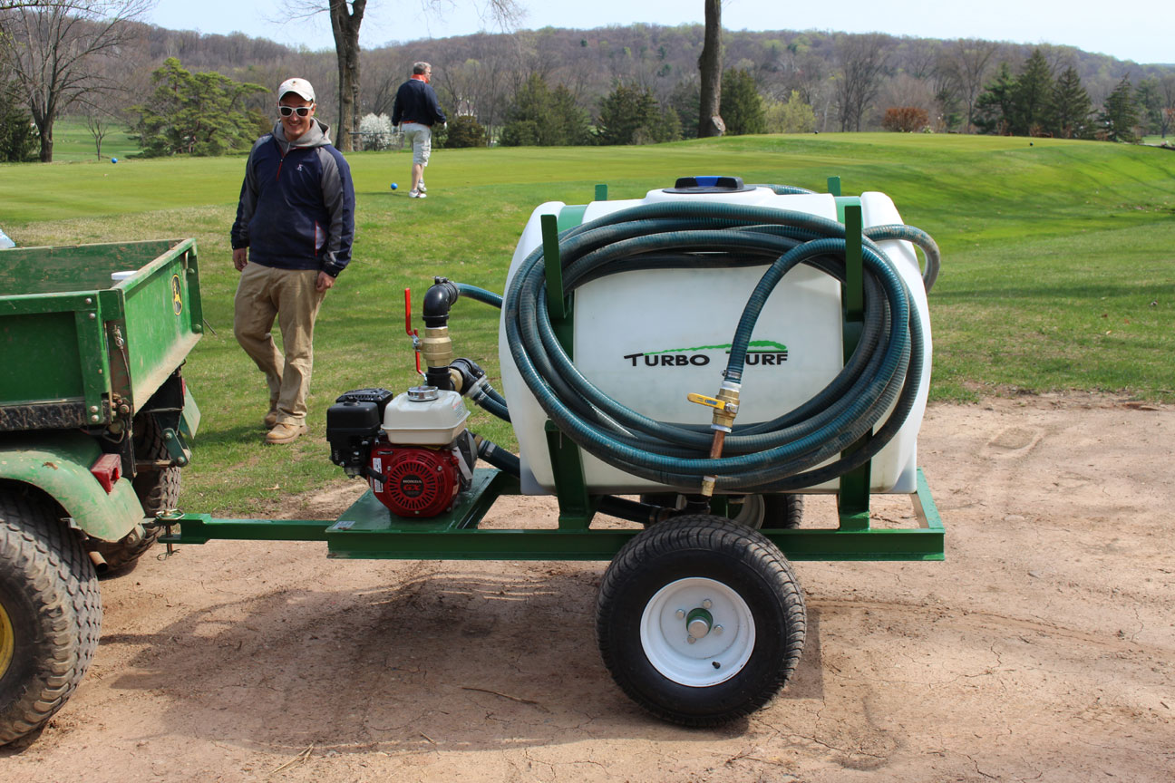 HS-150-P hydroseeder at a golf course