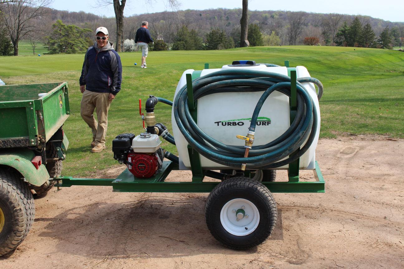 HS-150-P hydroseeder at a golf course