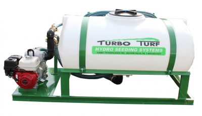 Turbo Turf HS-300-E8 hydroseeder, right side view