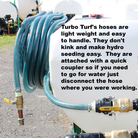 Turbo Turf's hoses are lightweight and don't kink