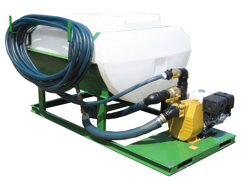 HS-300-EH Turbo Turf Hydroseeder right front view