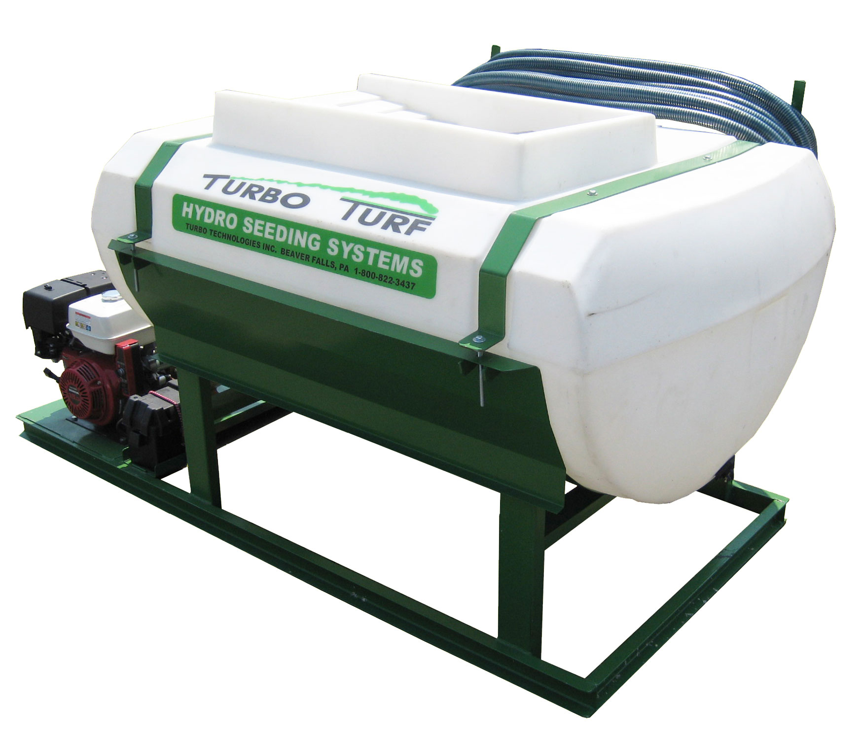 Turbo Turf HS-300-EH Hydroseeder rear view