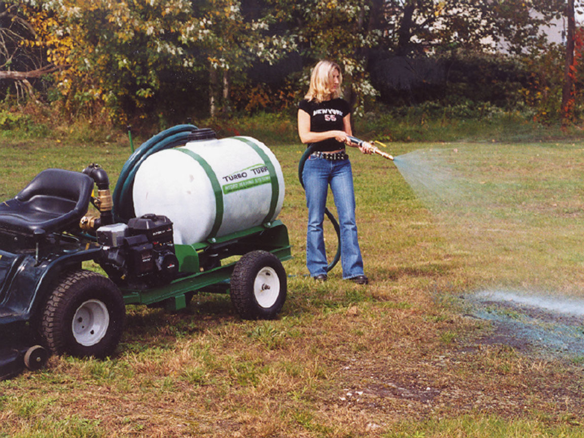 Turbo Turf HS-50-P hydroseeder in action