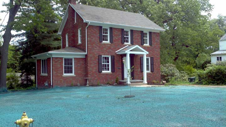 Hydroseeding job In Ellwood City PA