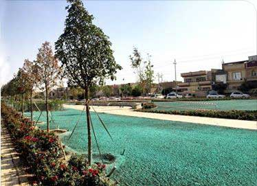 A hydroseeding job in Iraq