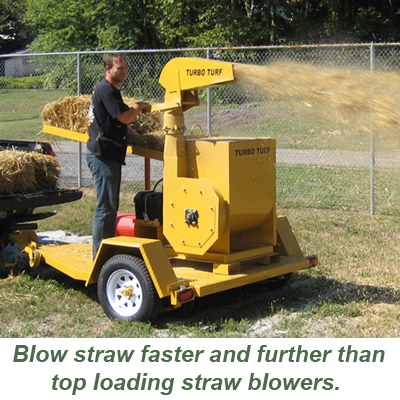 Turbo Turf Straw Blowers blow faster and further