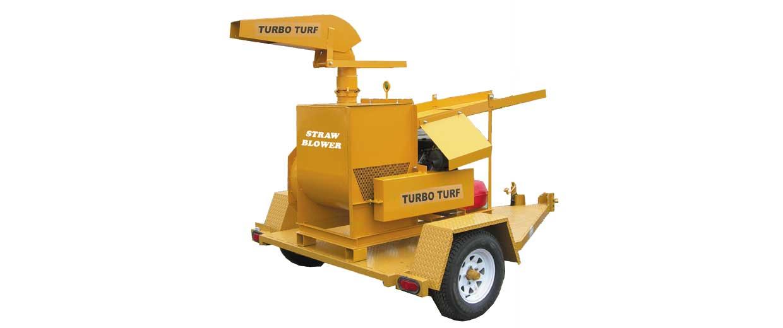 Turbo Turf Straw Blower with trailer