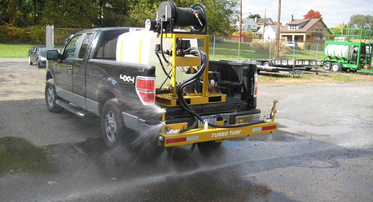 Turbo Turf's 200 gallon Brine sprayer with 3 lane boom