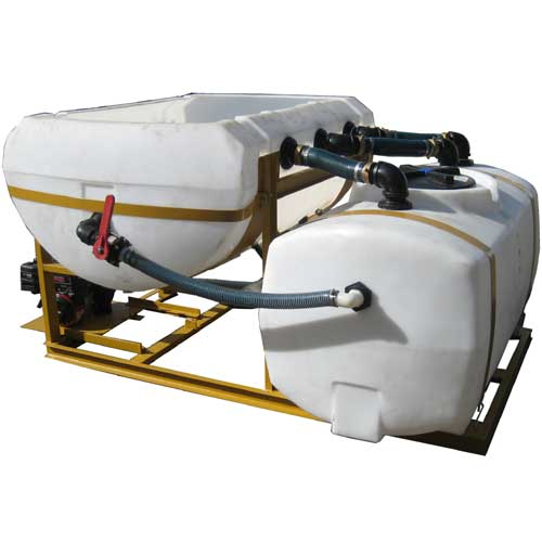 BM-450 makes 450 gallons of brine in 25 minutes, easy to load, use and clean out.