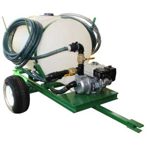 Turbo Turf HS-100-P pull type 100 gallon hydroseeder