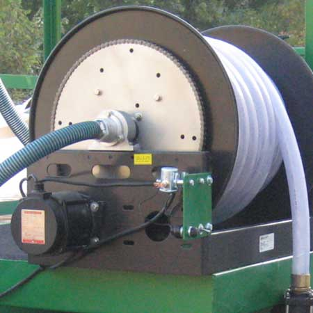 Hose Reel for hydroseeding