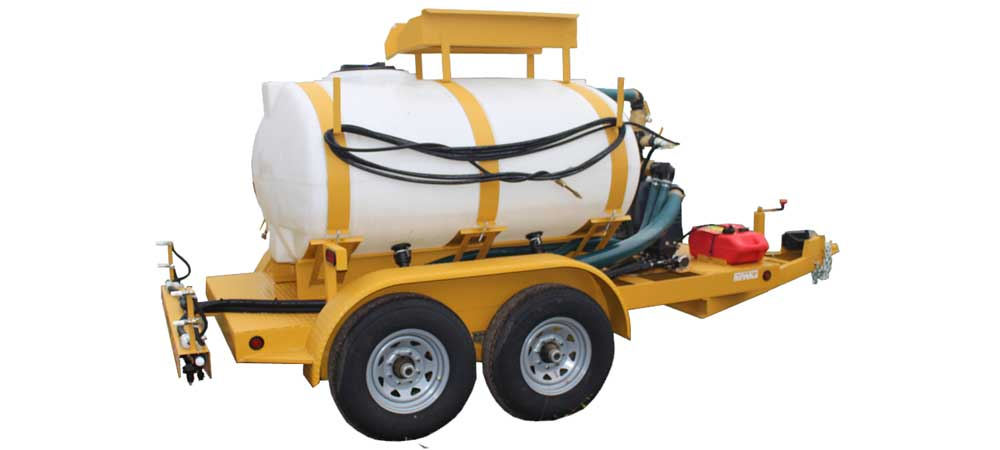 Pull Type Turbo Turf Hydroseeder converted to an ice control sprayer